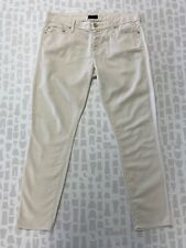 Mother Womens Ivory Lightweight Summer Skinny Cut Cropped Jeans Size 29