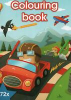 Colouring Book - Malbuch für Kinder - Autos, Krankenwagen und andere Motive #499