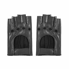 MATSU Classic Women Soft Driving Fingerless Lambskin Leather Gloves Available
