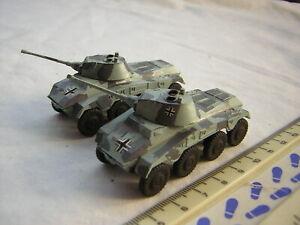 2 X Roco DBGM WW2 German Military 234/2 Puma Armoured Cars Scale 1:87