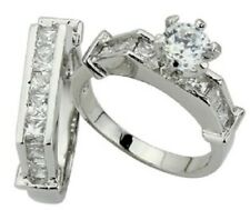 Layered Ring Set Size 6 #294 Solitaire 2.50 Ct Brilliant Cz Platinum