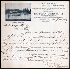 Berwindale PA 1897 New Atlantis Hotel A L Pierce  Vintage Letter Head Rare