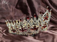 Luxurious Wedding Crowns Rhinestones Tiaras Multi-Coloured Pageant Party Prom