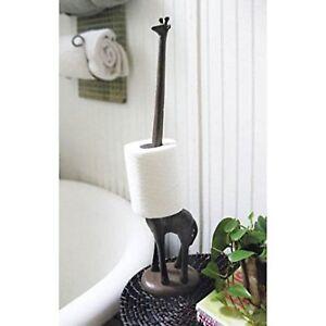Giraffe Decorative Toilet Paper Holder - Free-Standing Bathroom Kitchen Storage