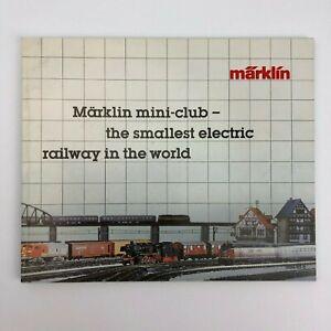 Vintage Marklin Mini-Club 78 Page Color Catalog - NEW