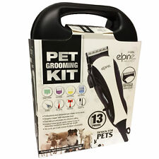 PROFESSIONAL PET HAIR CLIPPER 13PC ANIMAL GROOMING KIT DOG CAT FUR TRIMMER SHAVE
