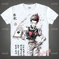 Anime HUNTER×HUNTER Hisoka T-shirt Short Sleeve Unisex Tops Ink Print #N345