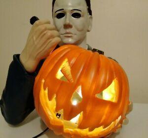 "Michael Myers Halloween Light Up 10"" Bust Statue Spirit Halloween Exclusive"