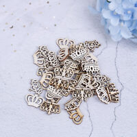 50pcs Crown Pattern Wooden Art Collection Craft for Handmade Home Decoration&l