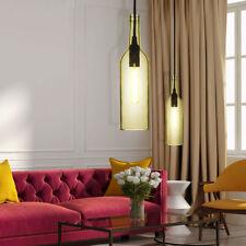 Ensemble de 2 lampes suspendues en verre salon vitres jaunes plafonniers 1-flg