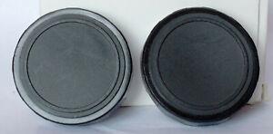 Pair of unbranded 42mm binocular caps.