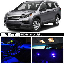 13x Blue Interior LED Lights Package Kit for 2016-2017 Honda Pilot