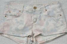 Topshop Denim Hot Pants Floral Shorts for Women