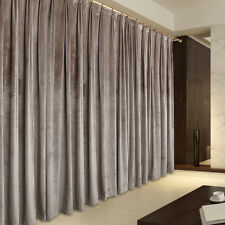 Pair Vintage Style Eyelet Velvet Curtains 2x140cmx213cm Drop,Light Brown AC198B
