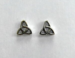 Pair Of Sterling Silver 925 Celtic Triangle   Ear  Studs  !!        New  !!