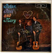 PETER PAUL & MARY SIGNED AUTOGRAPHED RECORD BY ALL THREE MEMBERS W/ COA!