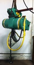 (#571) 1 Ton Capacity P&H Electric Chain Hoist, 3 ph, 15' lift, 2 speed, Pt