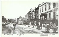 Surrey Postcard - Old Dorking - High Street c1904  - Ref U817