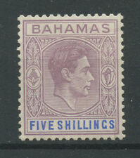 Bahamas SG156 1938 5s Lilac and blue (thick paper) Mounted mint