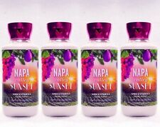 4 Bath & Body Works NAPA VALLEY SUNSET Body Lotion Cream Nourish Moisture