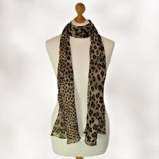 BNWT ladies womens brown animal leopard print scarf pashmina wrap shawl