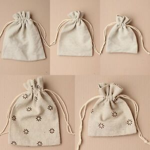 12 Linen Drawstring Wholesale Gift Bags Pouch Bag Packaging