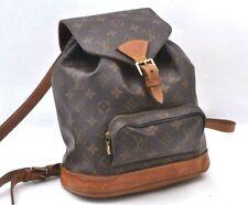 Authentic Louis Vuitton Monogram Montsouris MM Backpack M51136 LV 99236