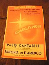 Partition Paso Cantabile Subira Sinfonia en Flamenco Castillos 1957 Music Sheet