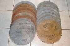 17 Original Regina Music Box 15 1/2 Disc Lot Estate Find No Reserve 17 In All