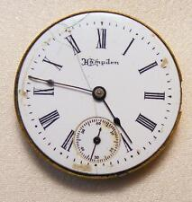 Working Antique 1898 Hampden Molly Stark Pocket Watch Movement & Dial