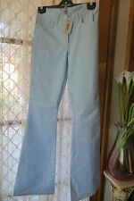 VINTAGE Style ~ ONYX ~  Blue Opal Sparkle PANTS/FLARES * Size 10 * Made in Italy