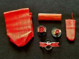 Lot rubans rappels rosettes Légion d'Honneur 1870 ruban Campagne d'Italie 1859