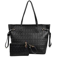 Korean Style Women Black Devil Skull Pu Leather Tote Bag Shopping Clutch Handbag