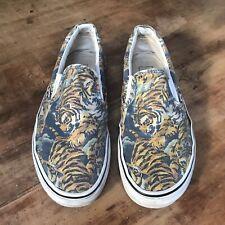 KENZO x VANS Flying Tiger Canvas Slip On Sneakers Shoes Skate Mens 9