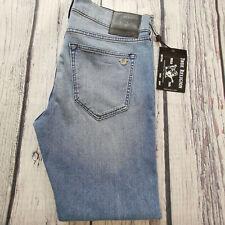 Men's True Religion Jeans 34 x 32 Rocco Relaxed Skinny/ Slim Leg Blue RRP £149