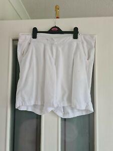 Next Ladies White Lined Mix Maternity Shorts Size 14
