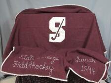 Vintage State College Stadium Blanket 'S' Varsity Letter Field Hockey Woolrich