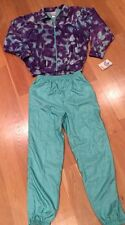 Vintage Adidas Track Suit Sweat Suit NWT Size Large Two Piece Bright Colors