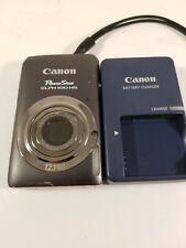 Canon PowerShot ELPH100 HS 12.1MP Digital Camera - Gray with charger