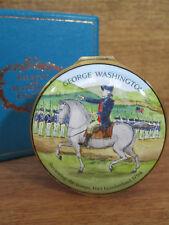 Halcyon Days Enamel Box George Washington Cumberland 1973 Horchow, Repaired