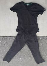 Women's Med Couture 8579 Black Scrubs (2-Piece Bottom And Top)Lots Of Pockets