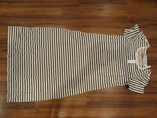 NWT Anthropologie Saturday Sunday Brown Pink Two-Tone Striped Dress XL