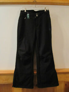 NEW Womens LL BEAN Mountain Laurel Soft Shell Ski Snowshoeing Pants BLACK S Pet