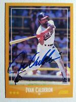 Rare 1988 Score Ivan Calderon Auto Autograph Card White Sox, Red Signed D-2003
