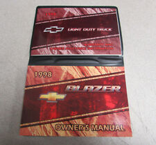 1998 Chevy Chevrolet Blazer Owners Manual With Case Light Duty Truck