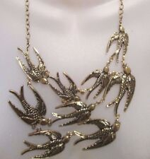Antique  Gold Brass  Bulky  BIB  Fashion  Statement  Necklace