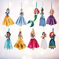 NEW! 2016 Disney Store Princess Sketchbook Glittering Ornament Set of 10 Figures