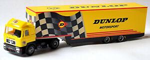 Man F2000 Semi-Trailer Dunlop Motorsport 1:87 Herpa 037044