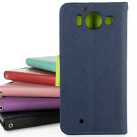 For Microsoft Lumia 950 Wallet Case Phone Pouch Folio Cover + Screen Protector