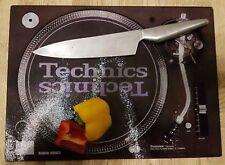 Glass Chopping board - DJ technics, SL1210 record deck present